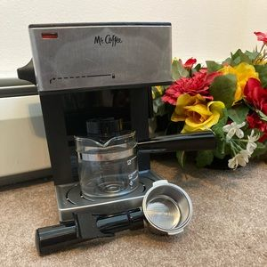 Mr. Coffee 4 Shot Steam Espresso and Cappuccino Maker with Frothing Arm